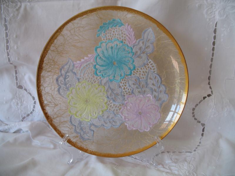 Piatti decorati piatto di vetro for Piatti decorati